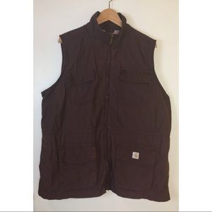 Carhartt El Paso Utility Vest Size XXL Burgundy